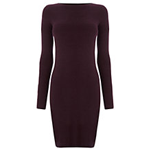Buy Warehouse Textured Dress, Berry Online at johnlewis.com