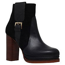 Buy KG by Kurt Geiger Sibling Grab Accent Ankle Boots, Black Leather/Suede Online at johnlewis.com