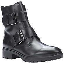 Buy Geox Peaceful Twin Strap Buckle Ankle Boots, Black Leather Online at johnlewis.com