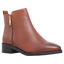Buy KG by Kurt Geiger Sabre Leather Ankle Boots, Tan Online at johnlewis.com