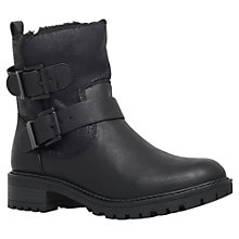 Buy Miss KG Snug Twin Buckle Detail Ankle Boots, Black Online at johnlewis.com
