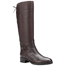Buy Geox Felicity A Block Heeled Knee High Boots, Coffee Leather Online at johnlewis.com