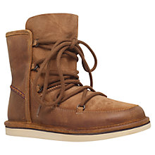 Buy UGG Lodge Classic Lace Up Boots, Brown Leather Online at johnlewis.com