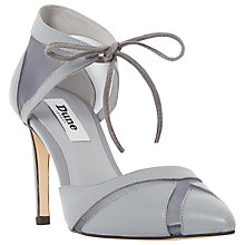 Buy Dune Cosete Two Part Mesh Court Shoes, Grey Leather Online at johnlewis.com