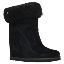 Buy UGG Kyra Slip On Flap Over Boots, Black Suede Online at johnlewis.com