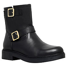 Buy Carvela Shed Buckle Vamp Ankle Boots, Black Leather Online at johnlewis.com