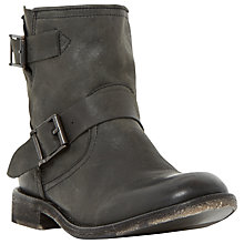 Buy Dune Peddley Double Buckle Low Heeled Ankle Boots Online at johnlewis.com