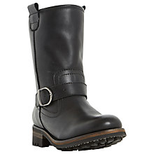 Buy Dune Roller Faux Fur Lined Buckle Calf Boots Online at johnlewis.com