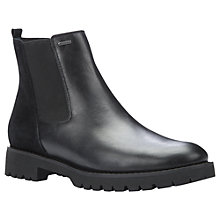 Buy Geox Ashleen Amphibiox Chelsea Ankle Boots, Black Leather Online at johnlewis.com