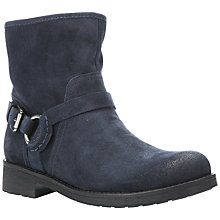 Buy Geox New Virna Low Block Heeled Biker Boots Online at johnlewis.com