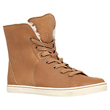 Buy UGG Croft Flat Lace Up Ankle Boots, Brown Suede Online at johnlewis.com