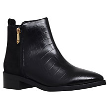 Buy KG by Kurt Geiger Sabre Leather Ankle Boots, Black Online at johnlewis.com