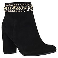 Buy KG by Kurt Geiger Sphynx Chain Detail Ankle Boots, Black Suede Online at johnlewis.com