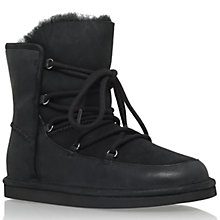 Buy UGG Lodge Lace Up Ankle Boot, Black Leather Online at johnlewis.com