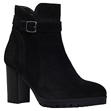 Buy Carvela Support Buckle Strap Ankle Boots, Black Suede Online at johnlewis.com