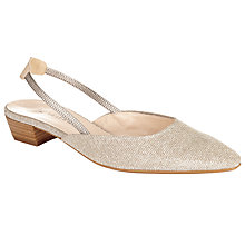 Buy Peter Kaiser Castra Slingback Block Heeled Court Shoes, Natural Online at johnlewis.com