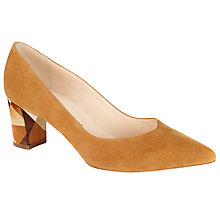 Buy Peter Kaiser Soraja Block Heeled Court Shoes, Brown Suede Online at johnlewis.com