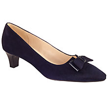 Buy Peter Kaiser Edel Kitten Heel Court Shoes, Navy Suede Online at johnlewis.com