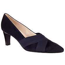 Buy Peter Kaiser Malana Cross Strap Court Shoes, Navy Suede Online at johnlewis.com