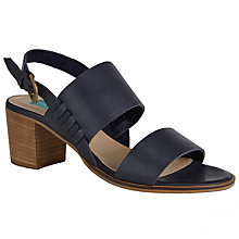 Buy Collection WEEKEND by John Lewis Itxassou Block Heeled Sandals, Navy Online at johnlewis.com
