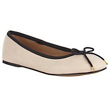 Buy John Lewis Jenni Ballerina Pumps, Nude/Black Online at johnlewis.com