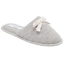 Buy John Lewis Bow Mule Slippers, Grey Online at johnlewis.com