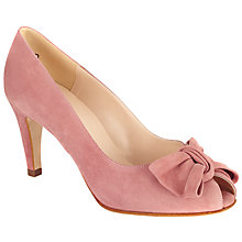 Buy Peter Kaiser Samos Bow Detail Open Toe Courts, Rose Suede Online at johnlewis.com
