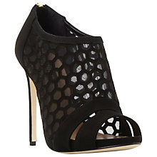 Buy Dune Black Daynie Laser Cut Stiletto Court Shoes, Black Suede Online at johnlewis.com