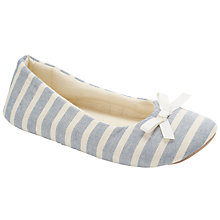 Buy John Lewis Ballerina Slippers, Blue Stripe Online at johnlewis.com
