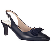 Buy Peter Kaiser Laura Bow Detail Slingback Court Shoes Online at johnlewis.com