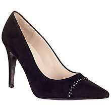 Buy Peter Kaiser Doro High Stiletto Heeled Court Shoes, Black Suede Online at johnlewis.com