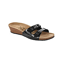Buy Birkenstock Anne Double Strap Sandals, Black Online at johnlewis.com
