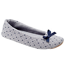Buy John Lewis Bow Slippers, Grey Online at johnlewis.com