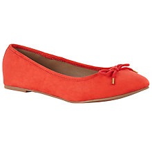 Buy John Lewis Jenni Ballerina Pumps, Coral Fabric Online at johnlewis.com