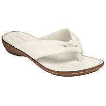Buy John Lewis Toe Post Sandals, Cream Online at johnlewis.com