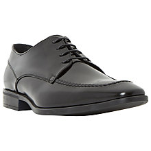 Buy Dune Ratatouille Leather Derby Shoes, Black Online at johnlewis.com
