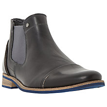 Buy Dune Chilli Leather Chelsea Boots, Black Online at johnlewis.com