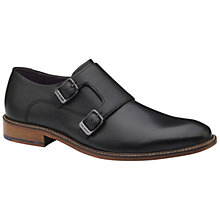 Buy Ted Baker Kartor 3 Double Monk Shoes, Black Online at johnlewis.com