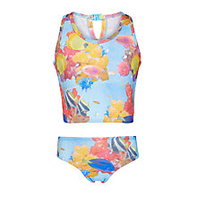 Buy John Lewis Girls' Tropical Fish Print Tankini, Multi Online at johnlewis.com