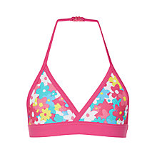 Buy John Lewis Girls' Mix and Match Floral Bikini Top, Pink Online at johnlewis.com