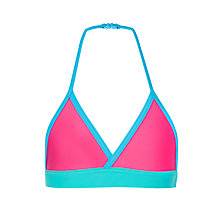 Buy John Lewis Girls' Mix and Match Colour Block Bikini Top, Pink/Aqua Online at johnlewis.com