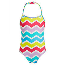 Buy John Lewis Girls' Zig Zag Halter Swimsuit, Multi Online at johnlewis.com