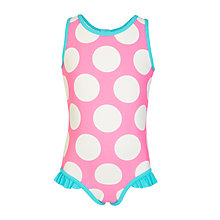 Buy John Lewis Girls' Bright Spot Swimsuit, Pink/Blue Online at johnlewis.com