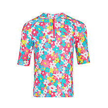 Buy John Lewis Girls' Floral Rash Vest, Multi Online at johnlewis.com