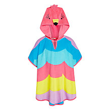 Buy John Lewis Girls' Tropical Bird Hooded Poncho, Multi Online at johnlewis.com