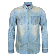 Buy Barbour Dual Shock Shirt, Bleach Wash Online at johnlewis.com