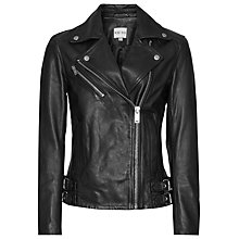 Buy Reiss Buckle Detail Jacket, Black Online at johnlewis.com