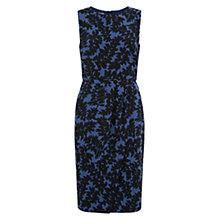 Buy Hobbs Abstract Leaf Dress, Shadow Blue Online at johnlewis.com
