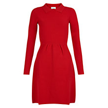 Buy Hobbs Hanna Dress, True Red Online at johnlewis.com