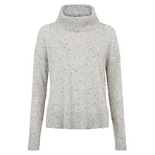 Buy Hobbs Katie Cashmere Jumper, Grey Melange Online at johnlewis.com